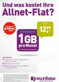 yourfone Und was kostet Ihre Allnet-Flat März 2016 KW09