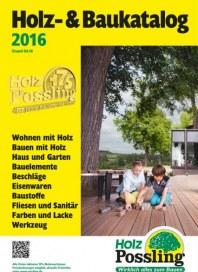 Holz Possling Holz-& Baukatalog 2016 April 2016 KW14