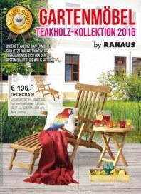 Rahaus Gartenmöbel - Teakholz-Kollektion 2016 April 2016 KW14