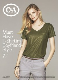 C&A Must Have - T-Shirt im Boyfriend Style April 2016 KW15