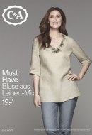 C&A Must Have - Bluse aus Leinen-Mix April 2016 KW16