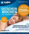 Kabs Polsterwelt Gutscheinwochen - Jetzt mit Vorteils-Coupons April 2016 KW17