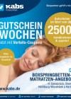 Kabs Polsterwelt Gutscheinwochen - Jetzt mit Vorteils-Coupons Mai 2016 KW21 1-Seite1