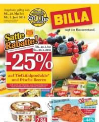 Billa sagt der Hausverstand Billa sagt der Hausverstand Angebote 25.05 - 01.06.2016 Mai 2016 KW21