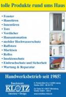 Klotz Metallbau GmbH Tolle Produkte rund ums Haus Juni 2016 KW22