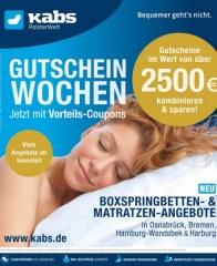 Kabs Polsterwelt Gutscheinwochen - Jetzt mit Vorteils-Coupons Juni 2016 KW22
