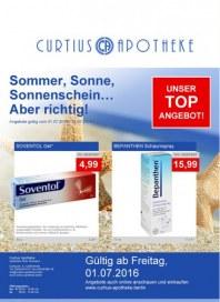Curtius Apotheke Sommer, Sonne, Sonnenschein... Aber richtig Juli 2016 KW26