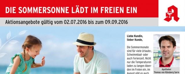 Stadt Apotheke Nürtingen Die Sommersonne lädt im Freien ein Juli 2016 KW26