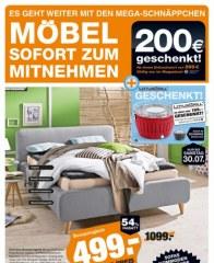 Segmüller Megastore - Möbel sofort mitnehmen Juli 2016 KW29