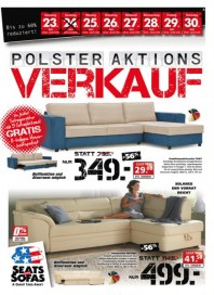Seats and Sofas Polster Aktionsverkauf Juli 2016 KW29