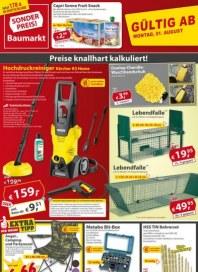 Sonderpreis Baumarkt Preise knallhart kalkuliert August 2016 KW31