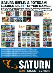 Saturn Saturn Berlin & Potsdam suchen die Top 100 Games August 2016 KW32