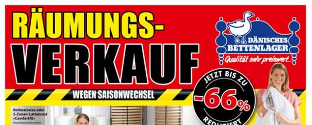 Dänisches Bettenlager Räumungsverkauf August 2016 KW32