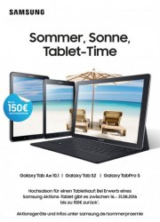 Samsung Sommer, Sonne, Tablet-Time August 2016 KW33