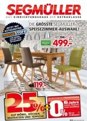 Segmüller Die größte Segmüller-Speisezimmer-Auswahl August 2016 KW35 9