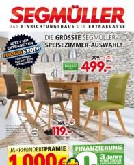 Segmüller Die größte Segmüller-Speisezimmer-Auswahl September 2016 KW37 2