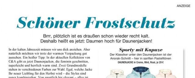 C&A Schöner Frostschutz Oktober 2016 KW41