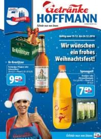 Getränke Hoffmann Wir wünschen ein frohes Weihnachtsfest Dezember 2016 KW51