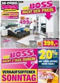 SB Möbel Boss Verkaufsoffener Sonntag Januar 2017 KW01