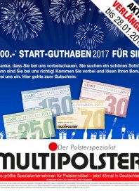 Multipolster 500,- Start-Guthaben Januar 2017 KW03