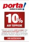 Porta Möbel 10% auf Teppiche September 2017 KW38 1