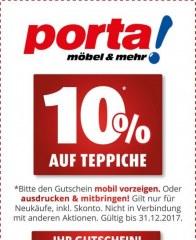Porta Möbel 10% auf Teppiche September 2017 KW38 2