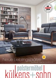 külkens+sohn Polstermöbel Neue Lieblingsplätze Oktober 2017 KW40