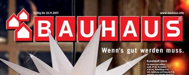 Bauhaus Wenns gut werden muss November 2017 KW45