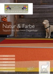 Bodenbeläge Marx GmbH Natur & Farbe I Teppich mit Kaschmir-Ziegenhaar November 2017 KW47