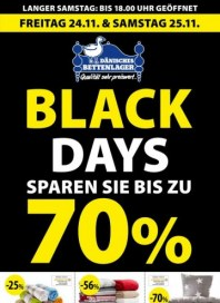 Dänisches Bettenlager Black Days - Sparen Sie bis zu 70% November 2017 KW47
