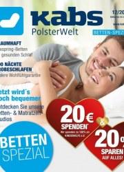 Kabs Polsterwelt Betten-Spezial November 2017 KW48