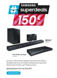 Saturn Samsung Superdeals - Bis zu 150€ Cashback November 2017 KW47 1