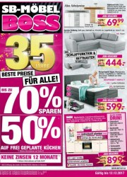 SB Möbel Boss Beste Preise für alle Dezember 2017 KW49