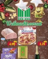 Marktkauf Weihnachtsvorrat Dezember 2017 KW50