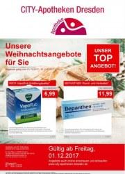 CITY-Apotheke in Dresden Unsere Weihnachtsangebote für Sie Dezember 2017 KW48