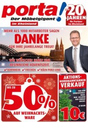 Porta Möbel Der Möbelgigant Dezember 2017 KW50