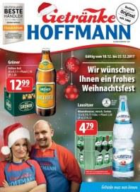 Getränke Hoffmann Wir wünschen Ihnen ein frohes Weihnachtsfest Dezember 2017 KW51