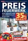 Segmüller Preisfeuerwerk beim Küchenspezialist Dezember 2017 KW51