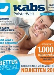 Kabs Polsterwelt Betten-Spezial Januar 2018 KW01