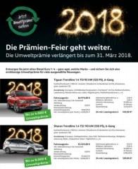 Volkswagen Die Prämien-Feier geht weiter Januar 2018 KW01