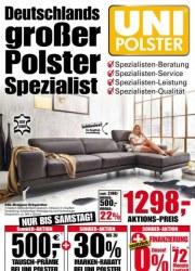 Uni Polster Deutschlands großer Polster-Spezialist Januar 2018 KW03 1