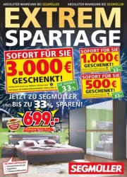Segmüller Extem-Spartage bei Segmüller Januar 2018 KW04