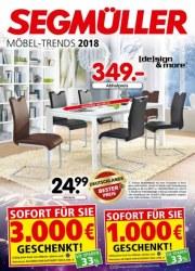 Segmüller Möbel-Trends 2018 Januar 2018 KW04