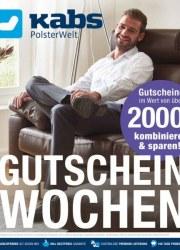 Kabs Polsterwelt Gutscheinwochen - Gutscheinbogen Januar 2018 KW04