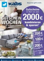 Kabs Polsterwelt Gutscheinwochen - Jetzt mit 12 Vorteils-Coupons Januar 2018 KW04