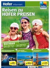 Hofer Hofer Reisen Juli 2012 1 Juli 2012 KW26