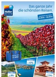 Hofer Hofer Reisen September 2014 September 2014 KW36
