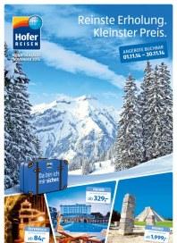 Hofer Hofer Reisen November 2014 November 2014 KW44