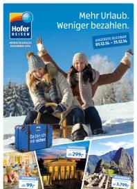Hofer Hofer Reisen Dezember 2014 Dezember 2014 KW49