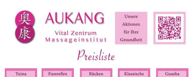 Prospekte AuKang Vitalzentrum - Die Massage-Profis im 1. Bezirk Mai 2016 KW17